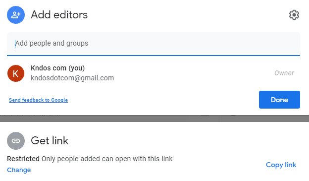 Add collaborator id in google form