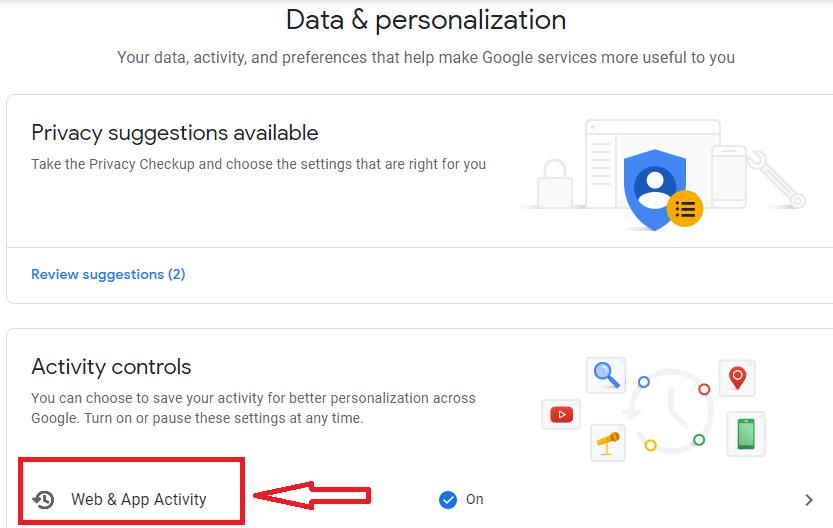 Google assistant web activity