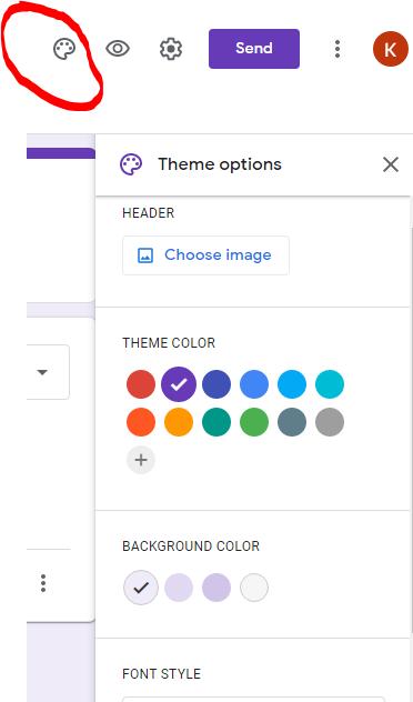 Google form theme