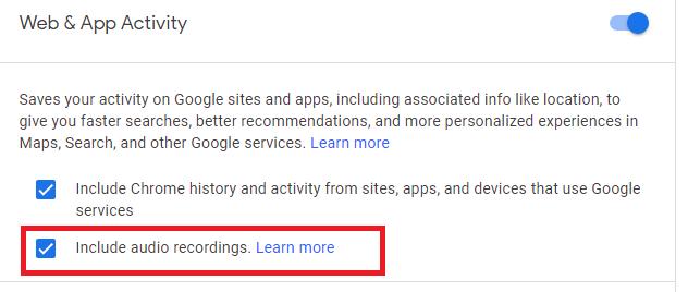 include audio recording google assistant