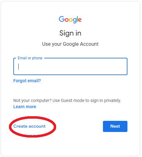 Google Account signin
