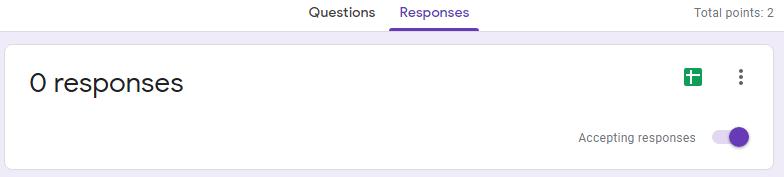 google form Response
