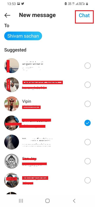 Add Friends in Instagram Group