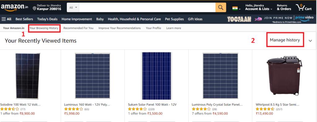 Amazon Browsing History